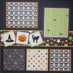 Mom and Me Scrapbooking: Halloween Page Kits Couple Scrapbook, Album Scrapbook, Scrapbook Sketches, Scrapbook Page Layouts, Baby Scrapbook, Scrapbook Paper Crafts, Scrapbook Supplies, Scrapbooking Ideas, Scrapbook Photos