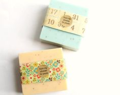 Dozen Baby Shower Soap Favors- full size bars with labels