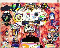 Takashi Murakami, new work in his studio, 2015