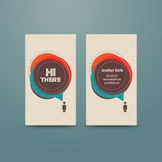 Personal Business Card Vector Graphic