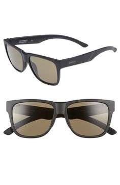 1ba8191c08 SMITH LOWDOWN 2 55MM CHROMAPOP SQUARE SUNGLASSES - MATTE BLACK.  smith
