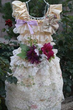 ivorybeige lace  and satin petti dress by cookiesandcostumes, $79.99