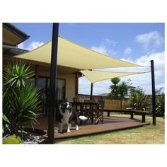 A sun shade sail is a great alternative to a gazebo, pergola or patio umbrella because it can move to different places with ease, and save money to do it Pergola Patio, Pergola Canopy, Canopy Outdoor, Patio Roof, Backyard Patio, Screened Gazebo, Backyard Gazebo, Pergola Kits, Pergola Ideas