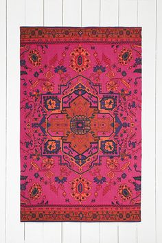 Overdyed 4x6 Rug in Pink