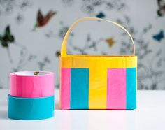 DIY Toddler Duct Tape Handbag | Hellobee Verdict- Kids liked, made a bit larger to hold more, and longer straps for sling purse. -KC