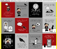 Nevermore Little Poe cloth fabric quiet book  fabric by littleliteraryclassics on Spoonflower - custom fabric @cryswwilliams - this is ALL your fault! ;)