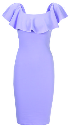 Jessica Wright Lilah Lilac Frill Bodycon Dress £60.00 http://www.sistaglam.co.uk/jessica-wright-dresses/jessica-wright-lilah-lilac-frill-bodycon-dress-1720