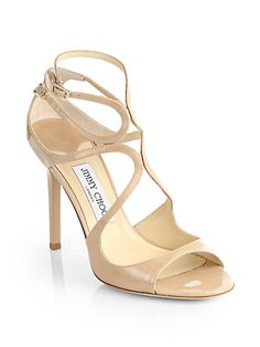Lang Strappy Patent Leather Sandals by Jimmy Choo