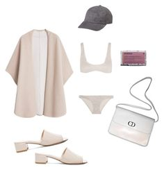 """""""Naked colours always"""" by astrro on Polyvore featuring Maryam Nassir Zadeh, MANGO, Zimmermann, Korres, Christian Dior, women's clothing, women, female, woman and misses"""