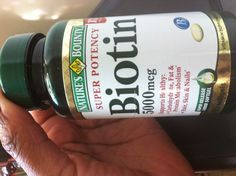 Biotin  5000mcg softgel I have taken 2 bottles of this dosage, so around 110 days (a few days I doubled). My nails were stronger and the natural coloring was much more natural. Very healthy looking. Nails grow fast. My hair grew about an inch and a half to two inches! It works! Just drink plenty of water!