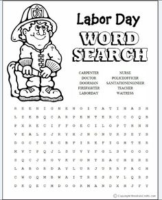 1000+ images about Labor Day on Pinterest | Labor Day, Word Search ...