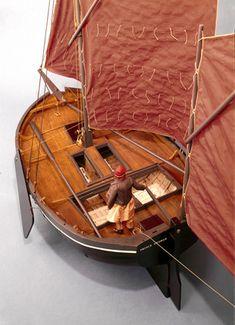 "Model of the Brighton hogboat  ""Royal George"", 1797"