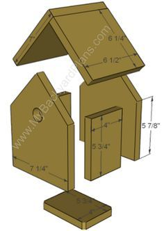 How to build a Birdhouse….my kids are always asking if we can build one. Now … Comment construire un nichoir … Bird House Plans, Bird House Kits, Outdoor Projects, Wood Projects, Woodworking Projects, How To Build Abs, How To Make, Bird House Feeder, Bird Feeder
