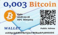 0,003 Bitcoin NFC peňaženka – DiGiPAY.sk Cryptocurrency, Coding, Wallet, Purses, Diy Wallet, Purse, Programming