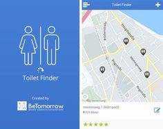 Der Toilet Finder zeigt dir Toiletten in deiner Umgebung an