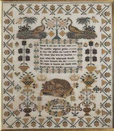 Sampler, made in Aberaeron, 1848 ::: Gathering the Jewels