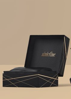 Luxury black and gold shoe box. #packaging #shoebox