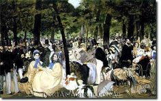 Manet   Music in the Tuileries - Direct Art Australia,  Price: $199.00,  Availability: Delivery 10 - 14 days,  Shipping: Free Shipping,  Minimum Size: 50 x 60 cm,  Maximum Size : 100 x 150 cm,  View the artwork before it is sent!  www.directartaustralia.com.au/