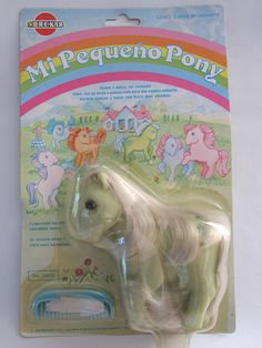 Spanish Piggy pony Minty with white hair MOC by SoSilver, via Flickr