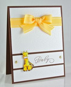 baby card with giraffe, love the simplicity
