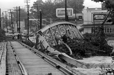 The Engleside Bridge, south of the city, collapsed into the raging Conestoga Creek. LNP Archived Photo