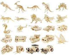MEGA PACK Doll Houses Buildings Animals Dinosaurs Vehicles Box Cars DXF EPS CDR 5 & 6 mm Size: 4 GB The drawings is suitable for CNC router, laser as well as for other types of cnc cutting machines Cnc Router Plans, Cnc Plans, Animal Set, Cnc Router Machine, Wood Images, Laser Cut Files, Spinosaurus, Cnc Projects, 3d Puzzles