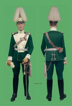 Officers uniform to the 8th Bavarian Chevaulegers Regiment.