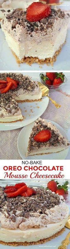 Oreo and choc mousse cheesecake
