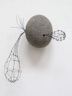Mari Andrews - Untitled 1332   2007   Stone and Wire 8x7x2 in