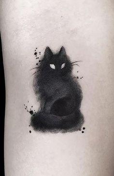 Black Cat Tattoos, Mini Tattoos, Animal Tattoos, Body Art Tattoos, Small Tattoos, Animal Lover Tattoo, Simple Black Tattoos, Noir Tattoo, Tattoo Henna