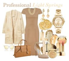 Professional: Light Spring by prettyyourworld on Polyvore featuring Andrea Marques, MANGO, Jimmy Choo, Women In Business, Maurizio Pintaldi, Chanel, Michael Kors, Le Specs, Zero Zero and Christian Dior