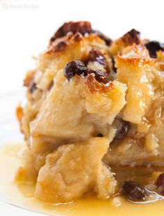 Authentic New Orleans Bread Pudding! With French bread, milk, eggs, sugar…