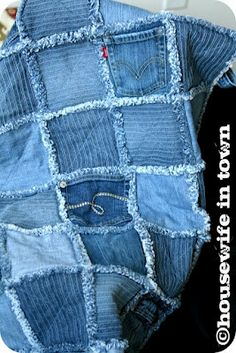 Ashbee Design: Denim Blue Jeans • FrayedI want'a try this!