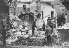 """Destruction of the Dortmund synagogue during Kristallnacht (the """"Night of Broken Glass""""). The Third Reich, Lest We Forget, Never Again, Persecution, World War Two, Wwii, Germany, Broken Glass, Pictures"""