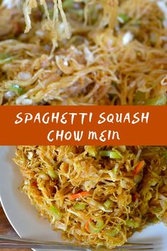 Name Name Paleo Spaghetti Squash Paleo - Modern Asian Recipes, Low Carb Recipes, Whole Food Recipes, Vegetarian Recipes, Cooking Recipes, Healthy Recipes, Courge Spaghetti, Vegetable Dishes, Vegetable Recipes