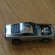 Hot Wheels Boss Hoss - Chrome - Vintage Ford Mustang Redline Super Clean