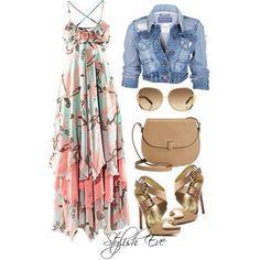 Boho Chic! Add a soft lightweight scarf for evening walk on the beach