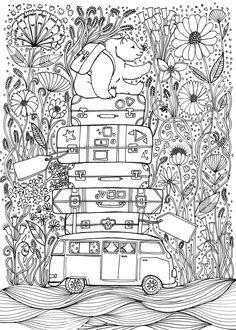 Travel inspired colouring book for La La Land