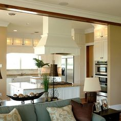 Open Concept Kitchen Living Room ***if I ever did the remodel, I would probably go for this type if layout. ****