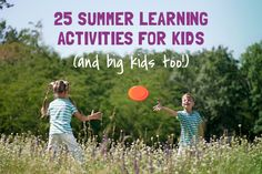 SUMMER LEARNING! Are you stumped on what to do with your curious, bright learners over the summer? Well, we've got 25 ways to keep your child learning during summer vacation. Visit our Summer Learning Pinterest board for playful learning activities. #summerlearning