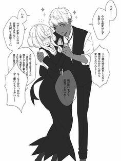 Anime Couples Manga, Cute Anime Couples, Anime Guys, Cute Comics, Funny Comics, Anime Witch, Witch Series, Vampire Love, Intense Love