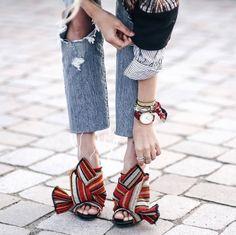 Shoe inspiration: amazing chunky heels, slip on shoes
