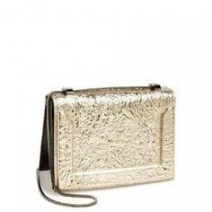 35% off 3.1 Phillip Lim - Shoulder Bag Mini Soleil Platinum and Gunmetal Crinkle Leather - $516.75