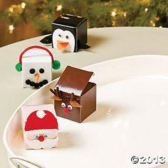 Christmas Faces Favor Boxes