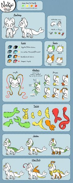 Nekoi Species Guide by Kawiku.deviantart.com on @DeviantArt