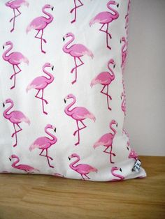 tissu ameublement flamants roses flamants roses. Black Bedroom Furniture Sets. Home Design Ideas