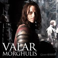 OK so this man started all this 'All Men Must Die' - hmmm.so whos going to be left? guess the wolves! LOL (Valar Morghulis - Jaqen H'ghar - Game of Thrones) Jaime Lannister, Cersei Lannister, Daenerys Targaryen, Hbo Series, Best Series, Winter Is Here, Winter Is Coming, Game Of Trone, Jaqen H Ghar
