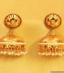 Buy Elegant Gold look Pearl Jhumka's jhumka online