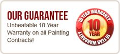 10 Year Warranty on all interior painting. Why be unsure of the painters you hire, call Genoa Coatings a company you can trust.