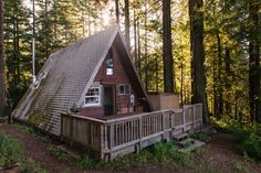 Cozy A-Frame Cabin in the Redwoods | Airbnb Mobile